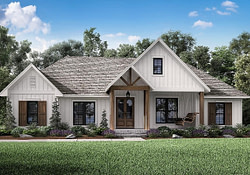 Modern Farmhouse Plan: 2,201 Square Feet, 3 Bedrooms, 2.5 intended for Modern Farmhouse Home Designs