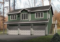 Ohlendorf Garage Apartment Plan 058D-0135   House Plans regarding Two Car Garage Apartment Plans