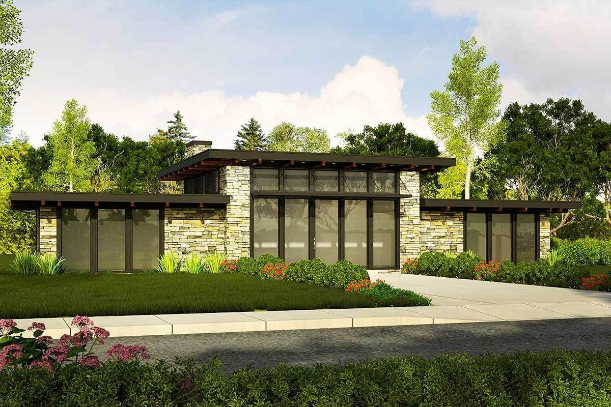 Plan 85021Ms: Contemporary Getaway Home Plan | Modern regarding White Modern Farmhouse Plans Single Story