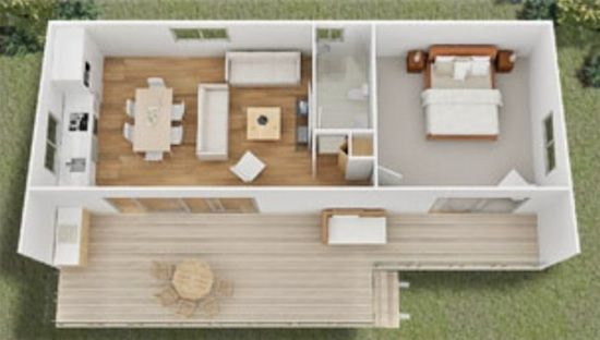 Tiny House Designsquick Housing Solutions intended for Small One Level Farmhouse Plans