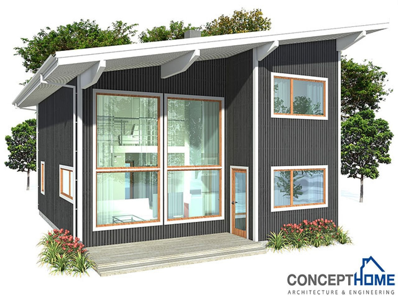 Small Affordable House Plans Simple Small House Floor pertaining to Small One Level Farmhouse Plans