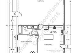Barndominium Floor Plans, Pole Barn House Plans And Metal intended for 1 Bedroom Barndominium Floor Plans