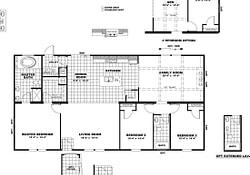 The The Dino 32 Floor Plan | Barndominium Floor Plans with regard to 3 Bedroom Barndominium Floor Plans